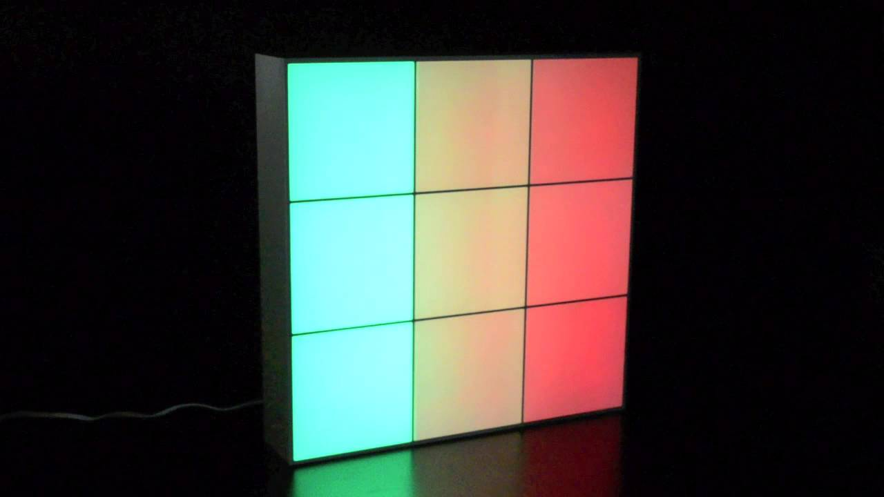 led panel stimmungslicht 40x40cm licht design skapetze youtube. Black Bedroom Furniture Sets. Home Design Ideas