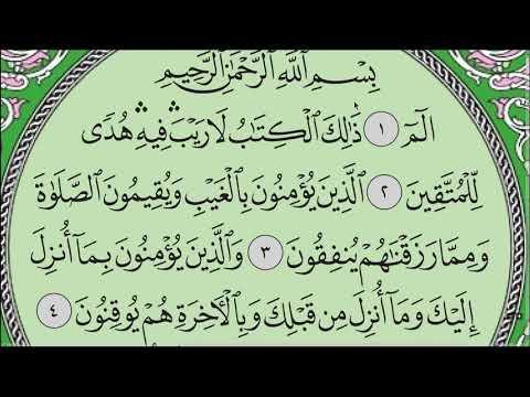 """Сура """"Аль-Бакара"""" № 2. Аяты 1-5. #коран #таджвид #ислам #сура"""