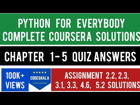 Coursera: Python For Everybody Complete Course Assignments Solution |Python For Everybody Assignment
