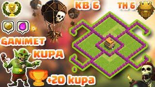 Clash of Clans 6.Seviye Köy Düzeni (Ganimet ve Kupa) town hall 6