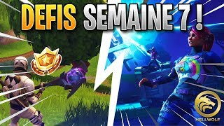 FORTNITE - COMPLETER WHAT ALL THE DEFIS OF THE WEEK 7, FREE PALIER - SKIN ROAD TRIP!!