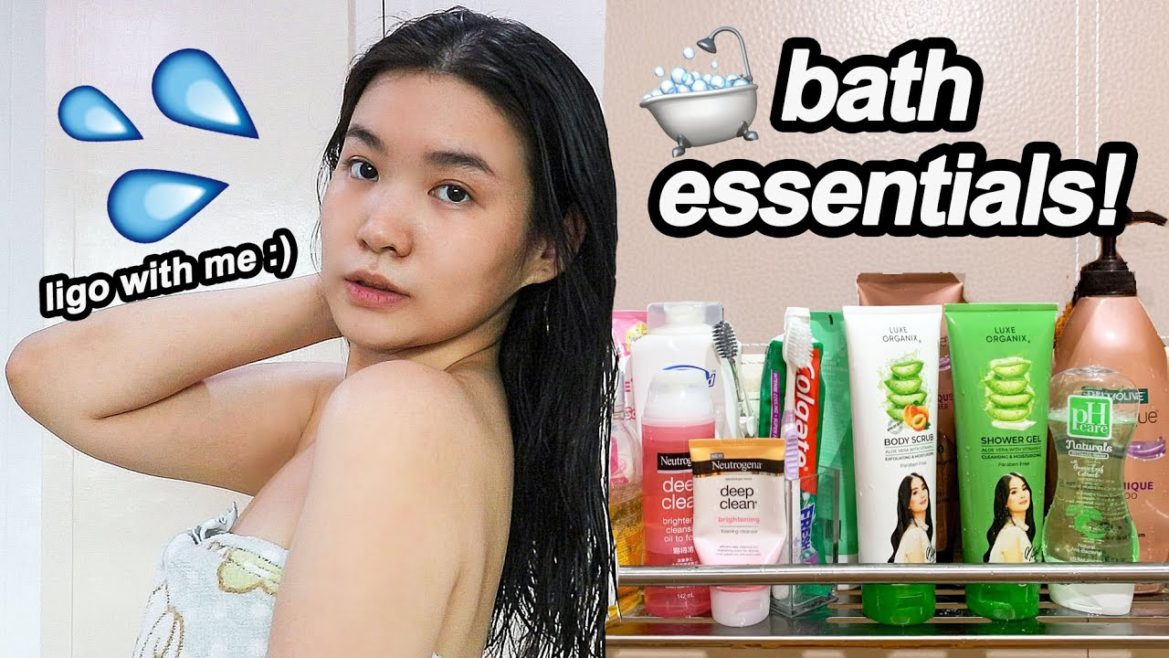 My SHOWER ROUTINE 💦+ Affordable BATH ESSENTIALS! ligo with me :) | Toni Sia