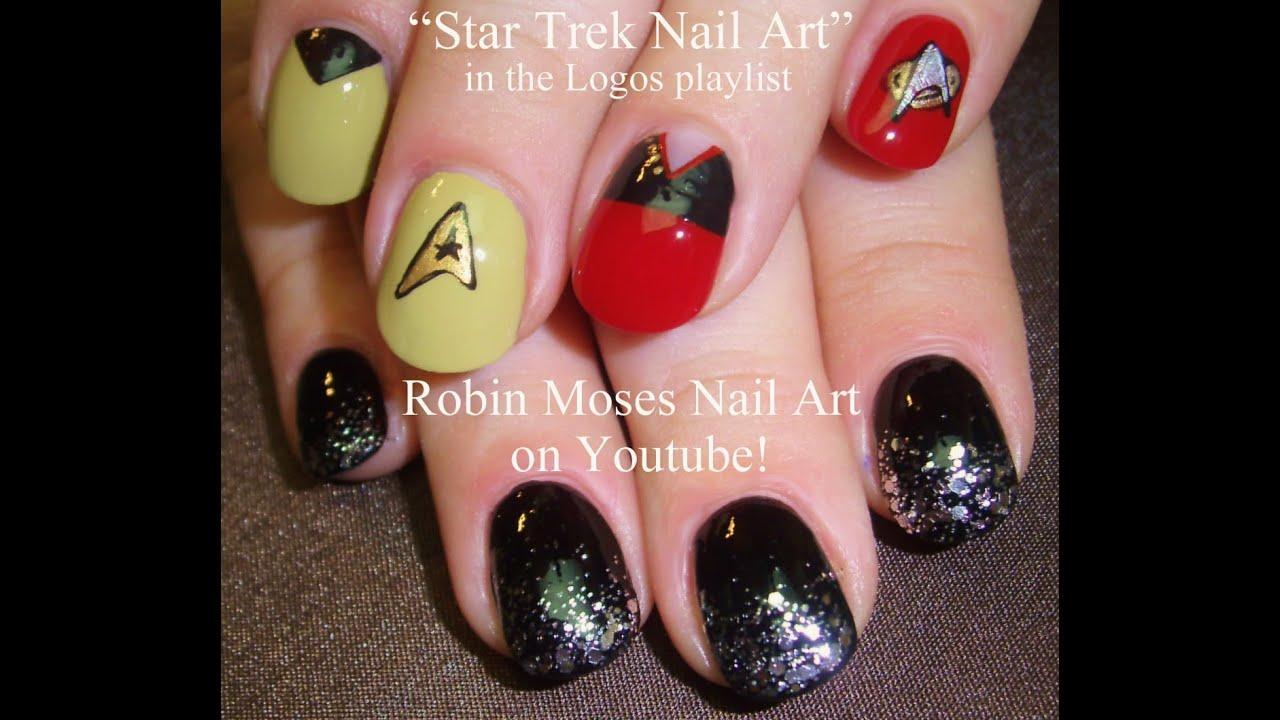 Star Trek Mix Match Nail Art Tutorial Youtube