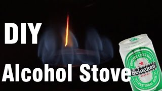 wow. Make an alcohol stove is very easy with heineken