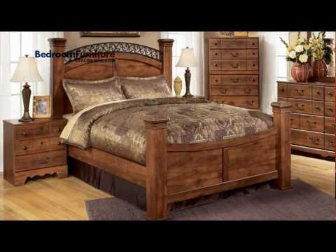 Ashley Timberline 4-piece Poster Bedroom Set In Cherry