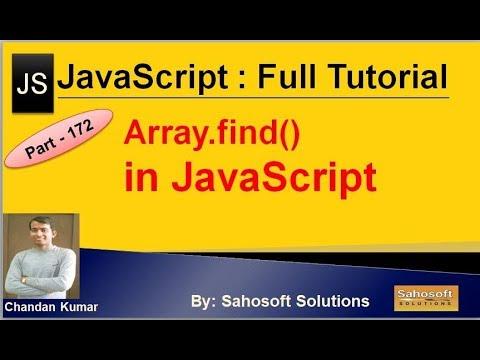Array find() in JavaScript | JavaScript Full Tutorial in Hindi thumbnail