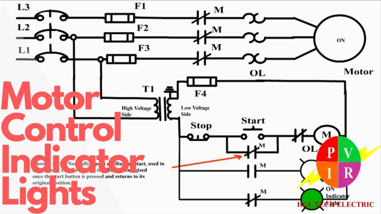 120v Lighting Contactor Wiring Diagram Horse Trailers For Sale In Texas Motor Control Start Stop Station With Indicator Lights Youtube