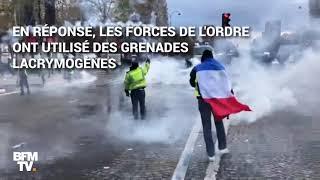 À Paris, la manifestation des gilets jaunes sur les Champs-Élysées dégénère dans la violence
