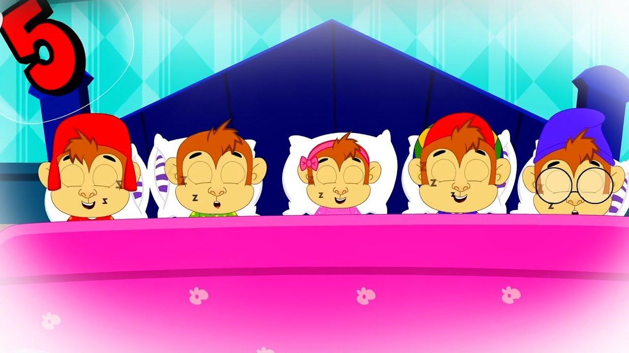 Five In The Bed | Nursery Rhymes & Kids Songs | Five Little Monkeys