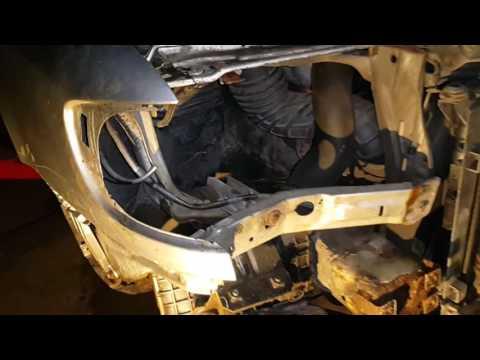 AUDI A6 C4 как снять передний бампер и крылья