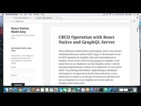 CRUD Operation with React Native and GraphQL Server – React