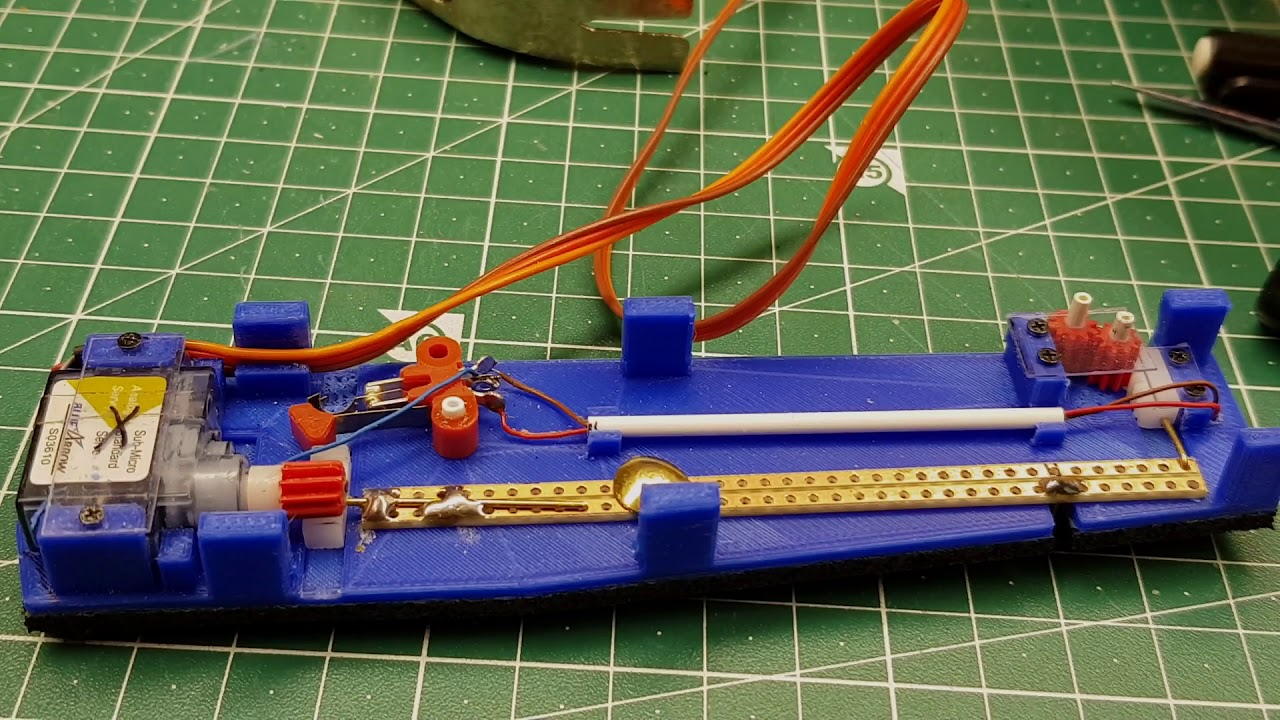 Modellbahn Spur N Peco Weiche 3d Druck Mit Servoantrieb Youtube