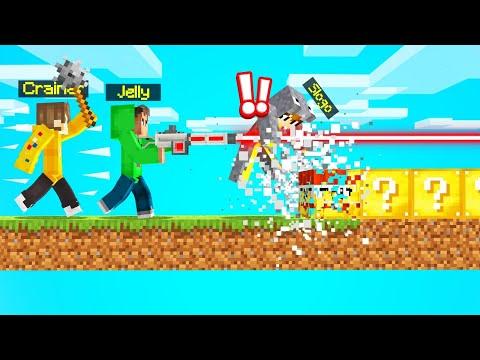 LUCKY BLOCKS SPEEDRUNNER vs. HUNTERS! (Minecraft) - Jelly