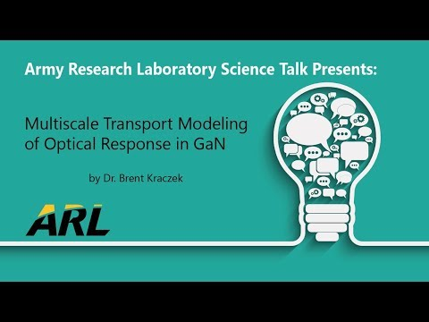 ScienceTalk: Multiscale Transport Modeling Dr. Brent Kraczek