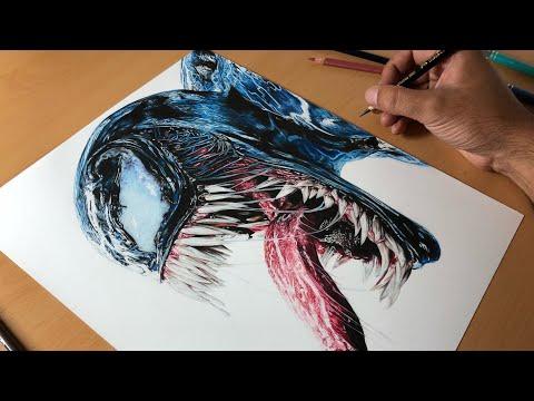 Drawing Venom (Tom Hardy)  - Timelapse | Artology