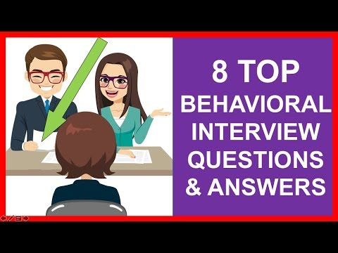 8 TOP BEHAVIORAL INTERVIEW Questions And Answers! (PASS)