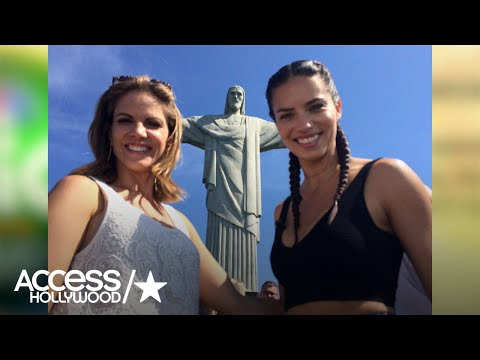 Watch Brazilian Model Adriana Lima Visit Rio's Christ The Redeemer Statue   Access Hollywood