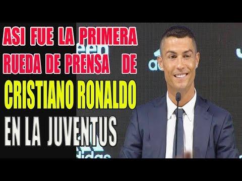 CRISTIANO RONALDO PRIMERA RUEDA DE PRENSA EN LA JUVENTUS ULTIMA NOTICIA DEPORTIVA DE FÚTBOL HOY 2018 thumbnail
