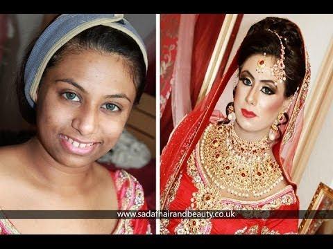 Real Bridal Makeup And Hair By Sadaf Wassan Youtube