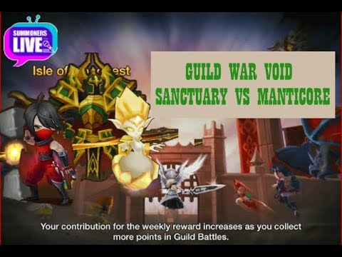 [Summoners War] [Summoners Live] - Guild War Void Sanctuary VS Manticore(MC)