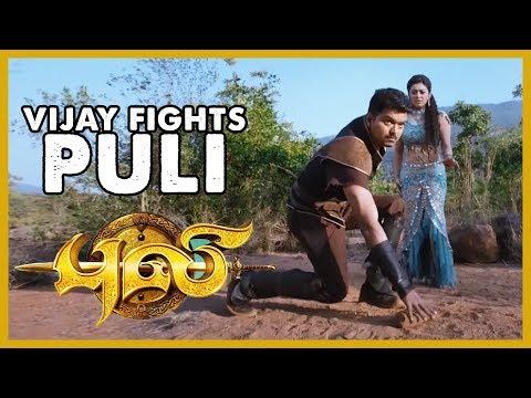 Puli - Vijay Fights Puli   Vijay   Shruti Haasan   Devi Sri Prasad   Chimbu Deven