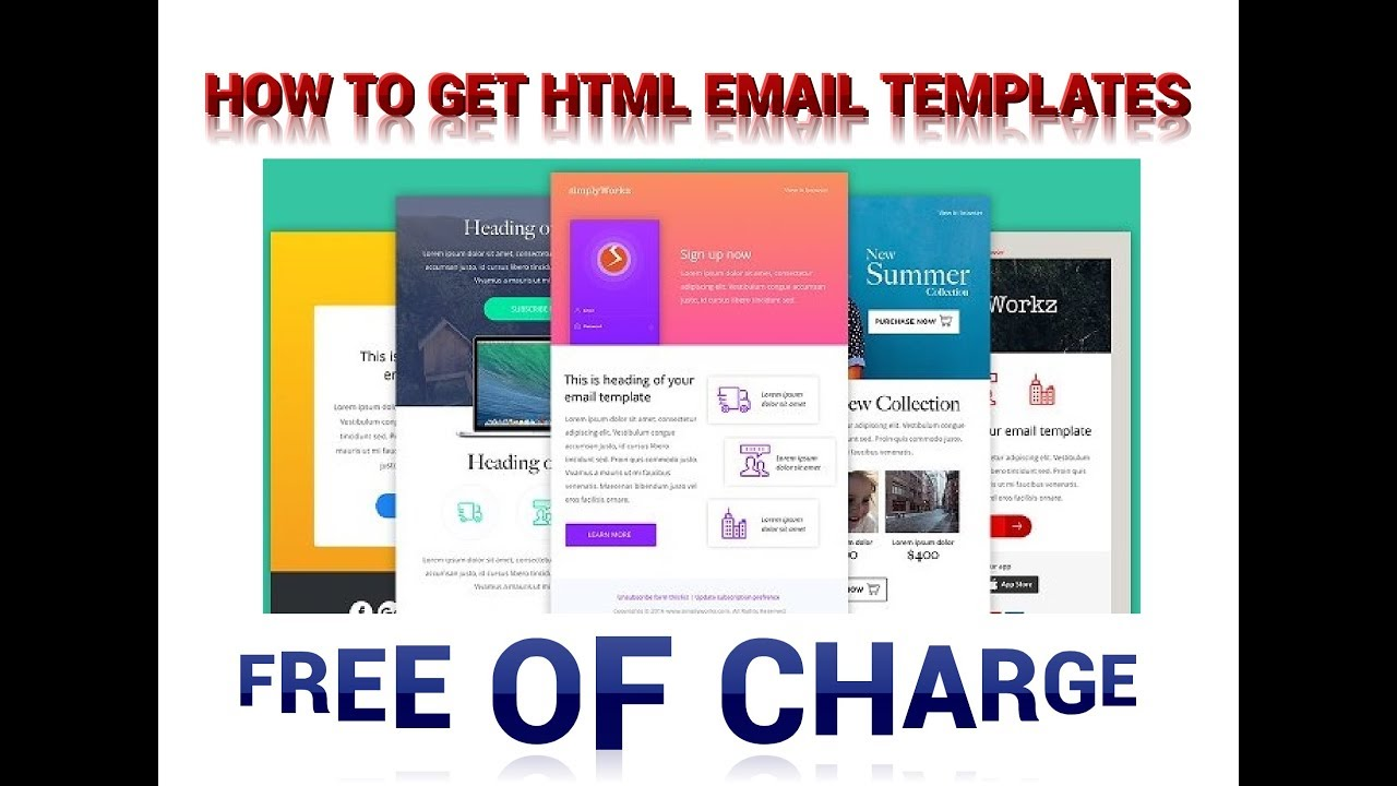 How To Get Responsive Html Email Templates For Free Youtube