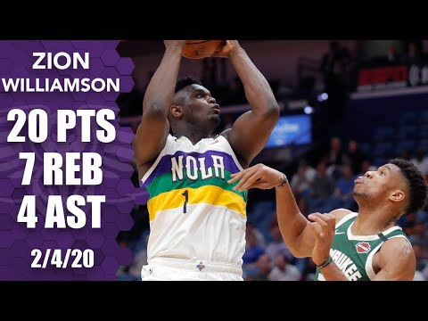 zion-rips-ball-away-from-giannis-in-20-point-outing-for-pelicans-vs.-bucks-|-2019-20-nba-highlights