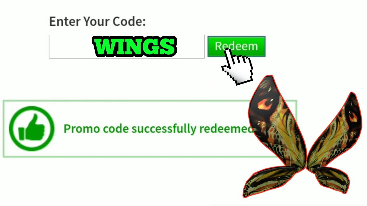 Roblox Promo Codes 2019 Free Wings Youtube