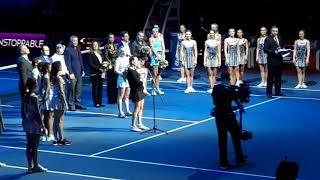 Награждение в парном разряде на St.Peterburg Ladies Trophy