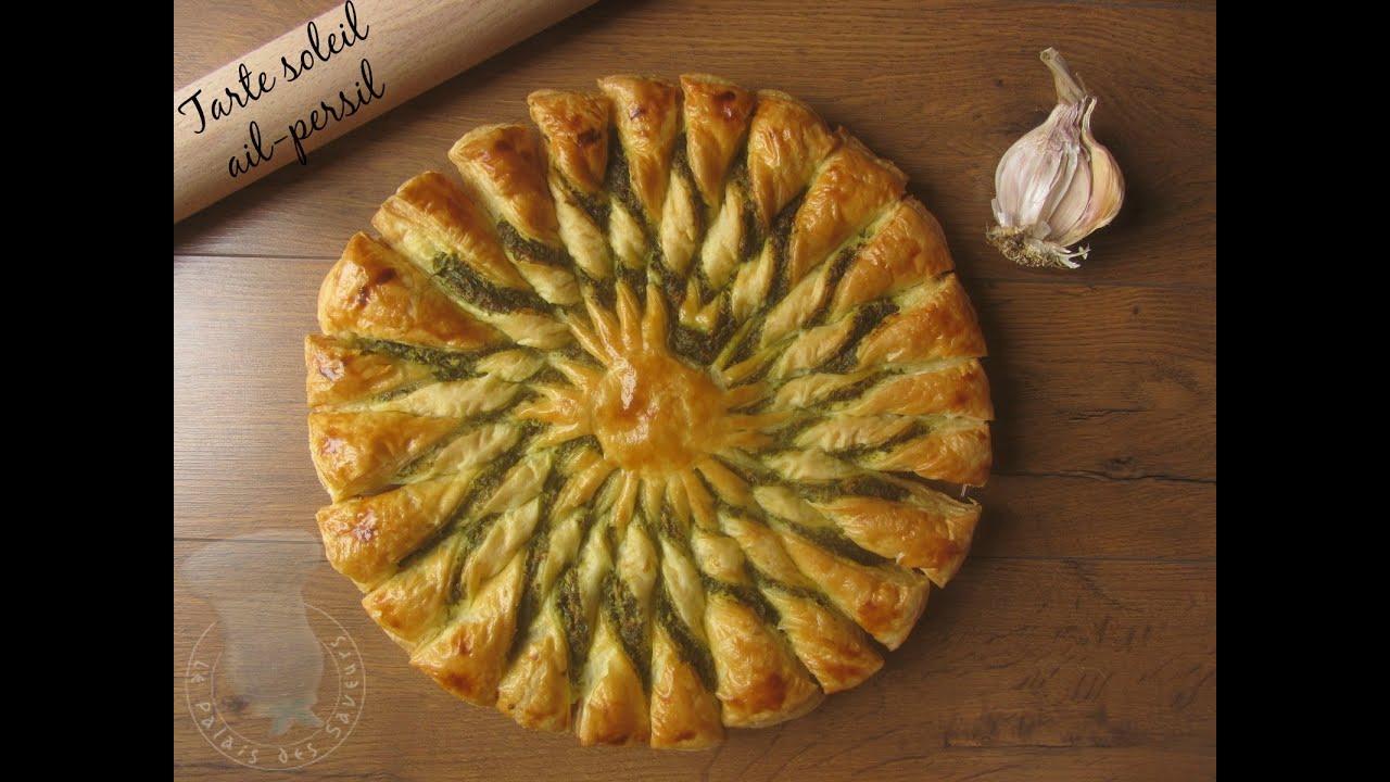 Populaire Recette de tarte soleil ail persil - YouTube BJ54