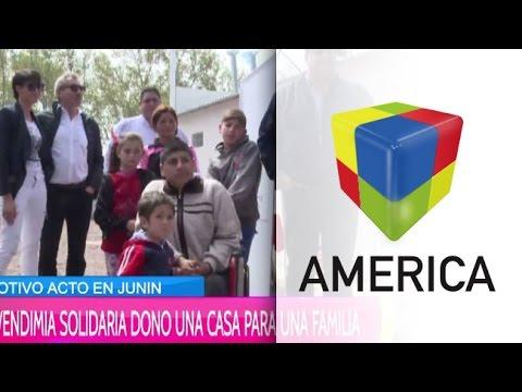Vendimia Solidaria donó una casa a una familia de Junín