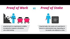 Proof of Work vs  Proof of Stake - Was ist der Unterschied?