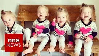 Quadruplets  Mum with four two year olds   BBC News