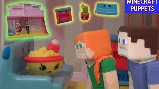 Shopkins Happy Places Playset House Puppy Parlor Unboxing Review w/ Puppet Steve and Alex!