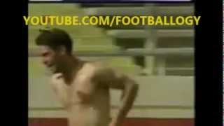 Soccer Player gets Naked after Goal
