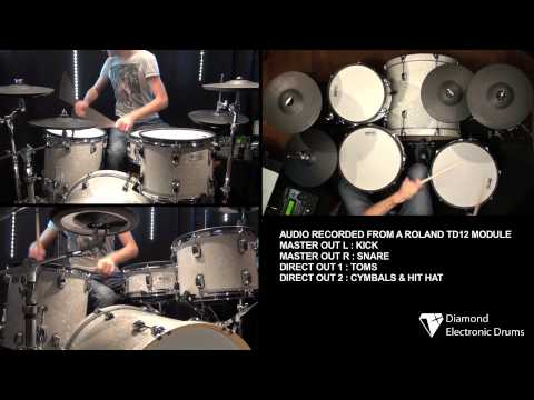 PART 3 Diamond Electronic Drums toms review