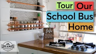 Tour Our Skoolie | A Complete Walk Through Tour Of Our Converted School Bus