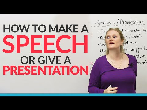 How To Give The Best Ch Or Presentation In English