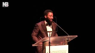 David John Washington Accepts Award from Congressional Black Caucus Foundation
