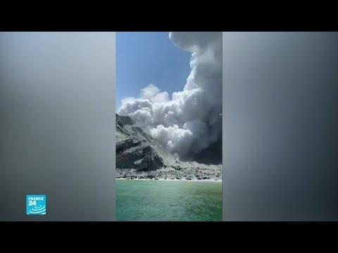 شاهدوا صورا من ثوران بركان جزيرة -وايت آيلاند- في نيوزيلندا  - نشر قبل 3 ساعة