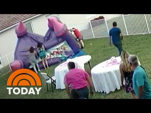 Man Deflates Bounce House With Children Inside, Stirring Outrage   TODAY