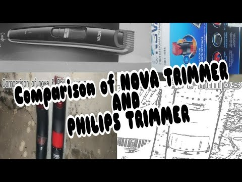 Philips trimmer (QT-4011) and (Nova NHT-1086) comparison, it's only comparison😇