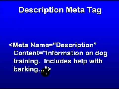 Seo Education 101 Part 6 - Understanding Meta Tags