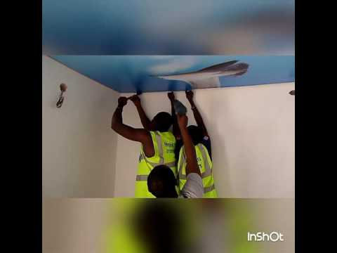 Stretch Ceiling installation Video... Meriekriss Interiors