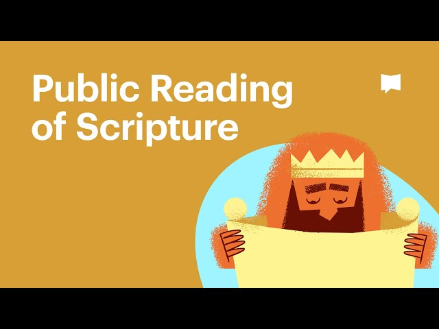 Public Reading of Scripture