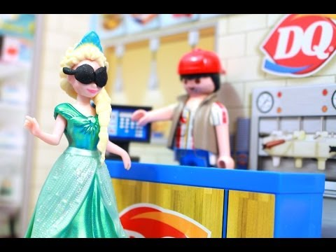AllToyCollector Frozen Elsa EATS DAIRY QUEEN DQ Anna, Rapunzel, Ariel Magiclip MiWorld Review Disney