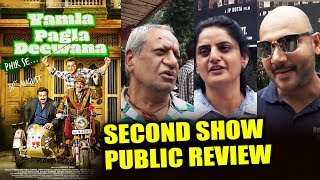 Yamla Pagla Deewana Phir Se PUBLIC REVIEW | Second Show | Dharmendra, Bobby Deol, Sunny Deol