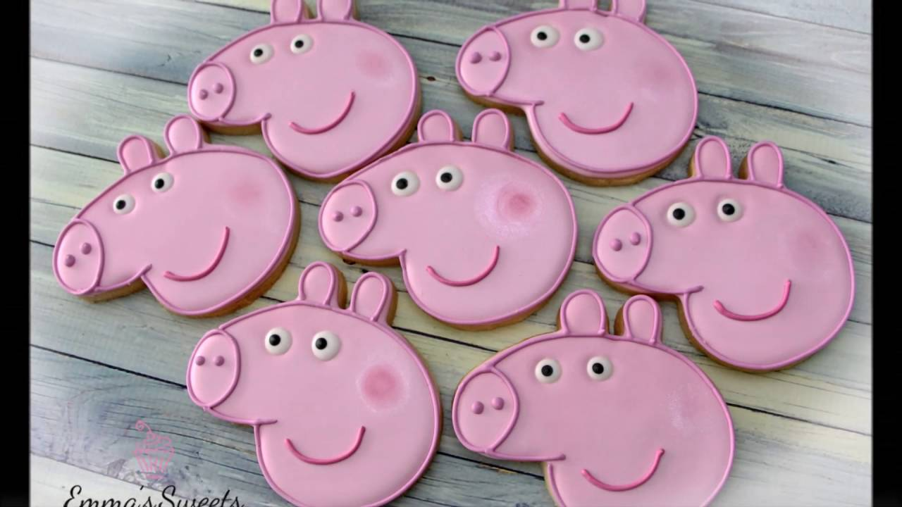 How To Decorate Peppa Pig Cookies By Emma S Sweets Youtube