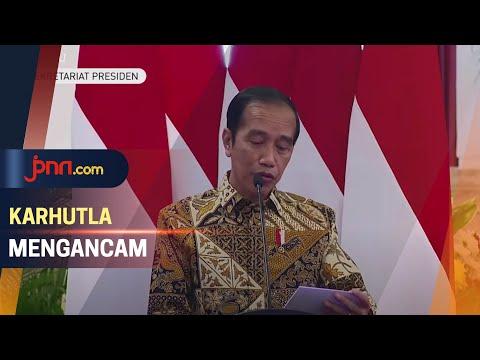 Jokowi Ancam Pecat Pejabat Gagal Tangani Karhutla