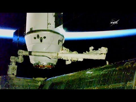 Full Space X Dragon CRS-13 ISS Resupply Ship Docking And Installation Coverage